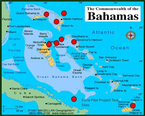 citrix pilot project bahamas national geographic information systems centre government