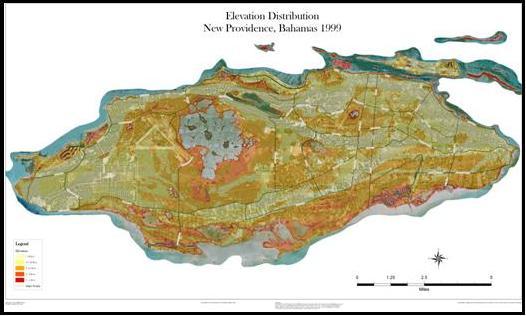 Bahamas Elevation Map.National Emergency Management Agency Nema Bahamas National