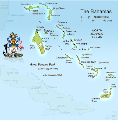 The Bahamas Government Details - Bahamas location map